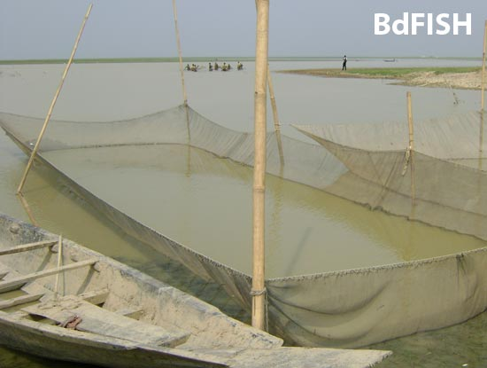 Fisheries activities in Hakaluki Haor