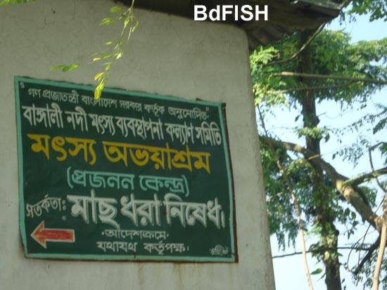 A Signboard of a Fish Sanctuary