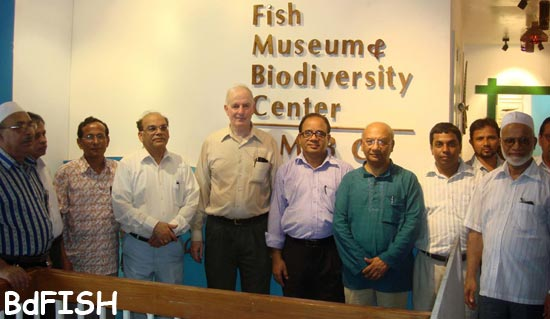 A photo-session of directors of FMBC and others in Fish Museum and Biodiversity Center, BAU