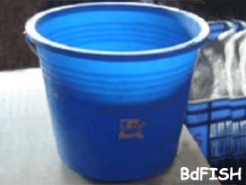 Plastic bucket used for washing purpose