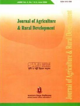 Journal of Agriculture &amp; Rural Development