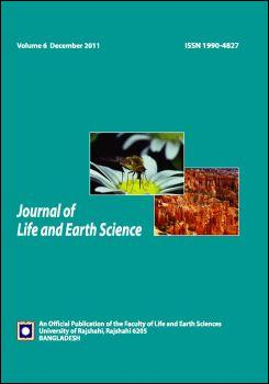 Cover page of the Journal of Life and Earth Sciences 2011