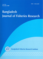 Cover page of the Bangladesh Journal of Fisheries Research