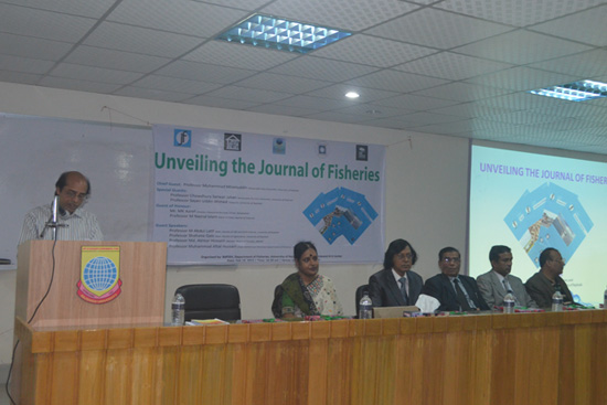Welcome address by Professor M Nazrul Islam, Editor in Chief, Journal of Fisheries