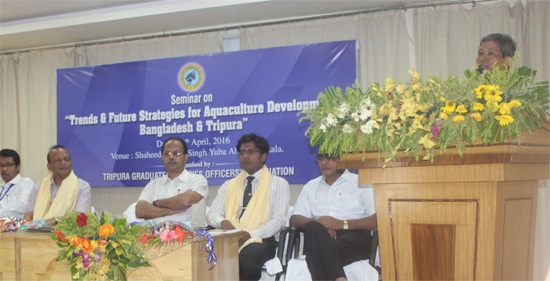 Speech by the Fisheries Minister of Tripura Sri Khagendra Jamatia