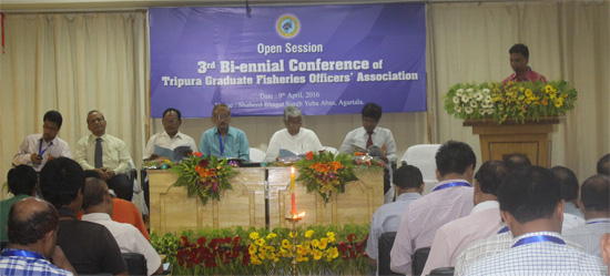 Welcome address by Mr Gouranga Chandra Sarkar