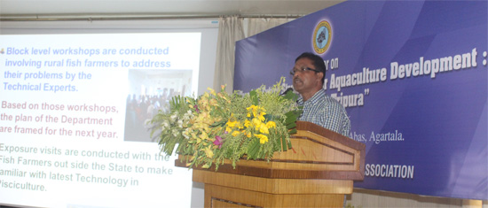 Presentation by Mr N Majumdar, Director of Fisheries of Govt. of Tripura, India