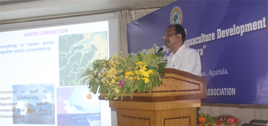 Presentation by Professor Dr RK Saha of College of Fisheries, Central Agricultural University, India