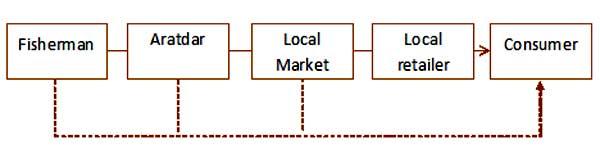Figure 3: Marketing channel of Glossogobius giuris