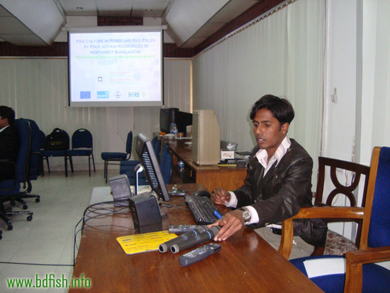 Presentation on the fish culture by poor Adivasi people in northwest Bangladesh