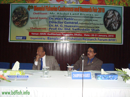 Dr. Md. Akhtar Hossain of Rajshahi University (left) as rapporteur in a technical session in the conference