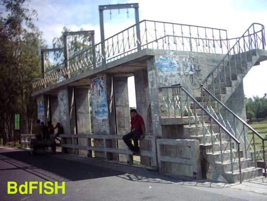 Sariakandi fish pass: showing control unit from road side view