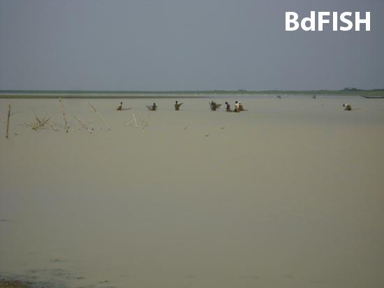 Fishing practice in Hakaluki Haor