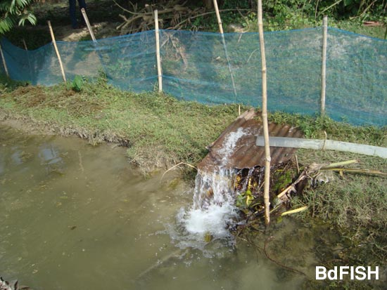Showing net fencing and water pumping in the farm
