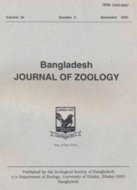 Cover page of Bangladesh Journal of Zoology