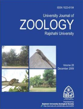 Cover page of University Journal of Zoology vol. 28