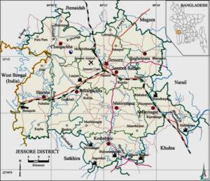 Map of Jessore District, Bangladesh (source: banglapedia.org)